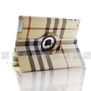 Style 360° Rotating Smart Cover Leather Stand Case Wake/Sleep
