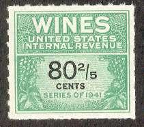Wines & Cordials Tax Stamps, Scott RE194