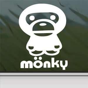 Anime Monkey Cartoon White Sticker Car Vinyl Window Laptop
