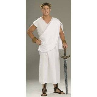 Franco Roman Emperor Caesar Toga Greek God Halloween Costume: Clothing