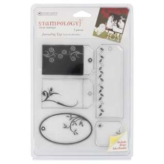 autumn leaves stampology clear stamps design journaling tags quantity