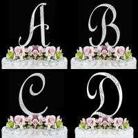 PC MONOGRAM INITIALS BRIDAL WEDDING CAKE TOPPER SET made w