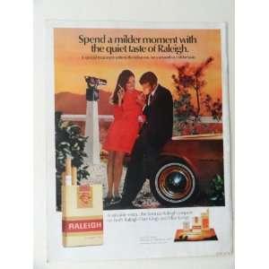 page print ad(woman/man,smoking.) original vintage magazine Print Art