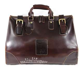 LEATHER Travel Luggage Bag Duffle Gym Carry On Overnighter Weekend