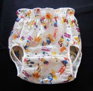 03 Mickey & Friends JAPAN Adult Baby Diaper Sissy Plastic Pants Cover