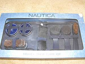 Nautica Travel Shoe Care Kit   Durable Zip Case, Polish, Brushes