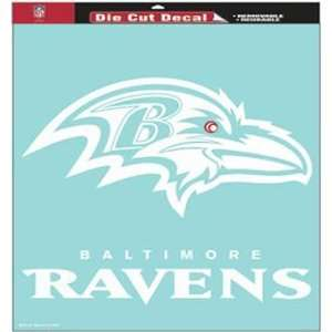 Baltimore Ravens NFL 18 X 18 Die Cut Decal  Sports