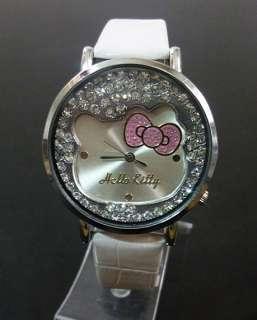 kitty lady girl new style wristwatch Crystal bowknot beautiful watches