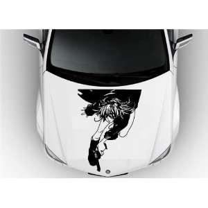 Anime Car Vinyl Graphics Girl with Guns S6891 Home