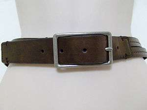 CALVIN KLEIN JEANS Brown Leather Belt Size 38