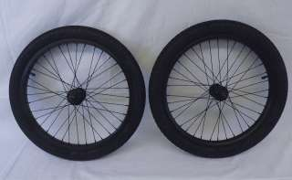 Description New Salt BMX Wheel Set Rims Wheels 9 tooth Black Anodized