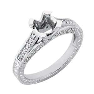 S. Kashi & Sons EN6751WG White Gold Engagement Ring   14KW