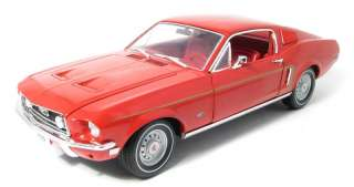 GREENLIGHT 12821 118 1968 FORD MUSTANG GT FASTBACK RED DIECAST MODEL