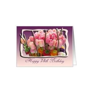 75th Happy Birthday Congratulations Card Card: Toys