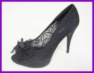 Auth Dolce&Gabbana Black Lace Platform Pump 39.5 $795