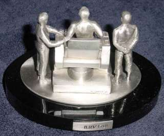 STAR TREK TO BOLDLY GO PEWTER KIRK SPOCK MCCOY W/ BASE