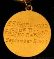 Vintage WWII Ship 14k Rose Gold & Yellow Gold Anchor Link Bracelet w