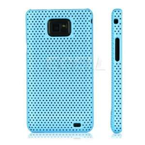 Ecell   SKY BLUE MESH HARD CASE FOR SAMSUNG I9100 GALAXY S