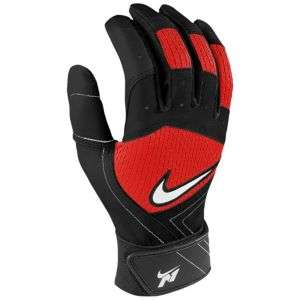 Batting Gloves   Mens   Baseball   Sport Equipment   Red/Black/White