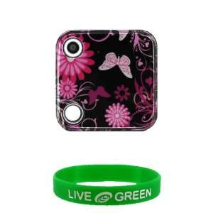 Pink Butterfly Design Snap On Hard Case for Nokia Twist