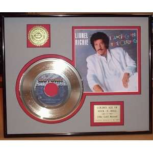 LIONEL RICHIE Gold Record Limited Edition Collectible