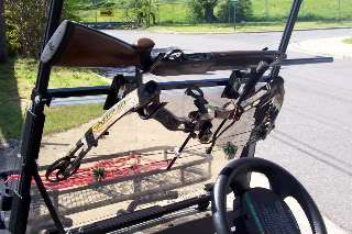 New Golf Cart Gun and Bow Rack/Carrier, Bad Boy Buggy