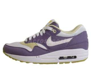 Nike Wmns Air Max 1 Lilac Purple Gold 90 Running Shoes