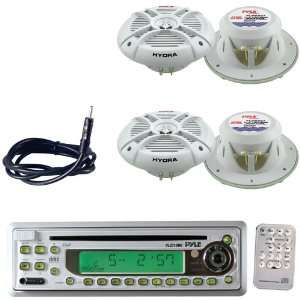 Pyle Marine Radio Receiver, Speaker and Cable Package