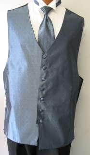Bill Blass Light Blue Full Back Vest and Tie