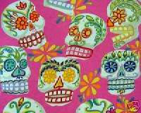 W48 DAY OF THE DEAD SUGAR SKULL Sew Quilt Cotton Fabric
