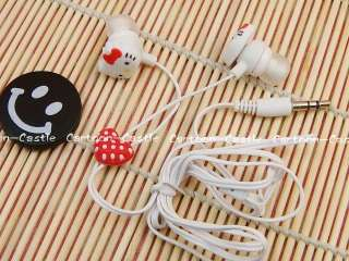Hello Kitty Heart  In ear Headphones Earbuds Red