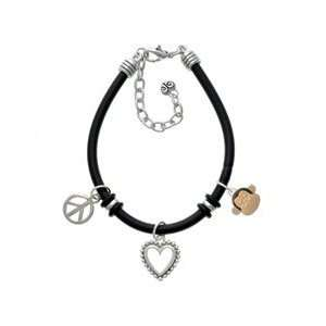 Monkey Face Black Peace Love Charm Bracelet [Jewelry]