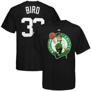 Larry Bird Boston Celtics Black Big & Tall Jersey Name And
