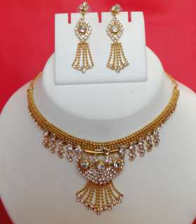 VERY BEAUTIFUL INDIAN BRIDAL PARTY WEAR GORGEOUS NECKLACE SET NECKLACE