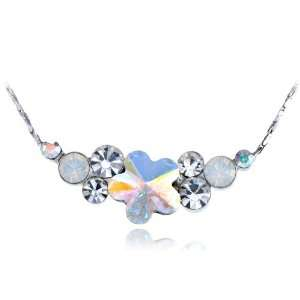 Silver Tone AB Perfect Circle Quaint Daisy Swarovski Crystal Element
