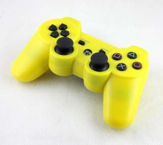 Yellow SIXAXIS Dualshock Wireless Bluetooth Controller for Sony PS3