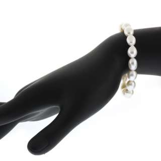 builder deals genuine freshwater white pearl necklace bracelet earring