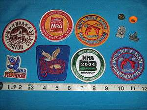 NRA NATIONAL RIFLE ASSCOIATION PATCH PINS STICKERS COLLECTION HUNTING