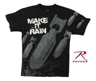 NEW VINTAGE MAKE IT RAIN BOMBS T SHIRT ARMY USMC USAF