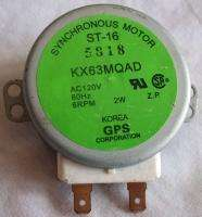 120 VAC Microwave Synchronous Motor ST 16 KX63MQAD