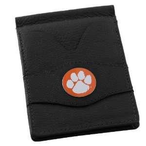 Tigers Black Front Pocket Card Holder & Money Clip