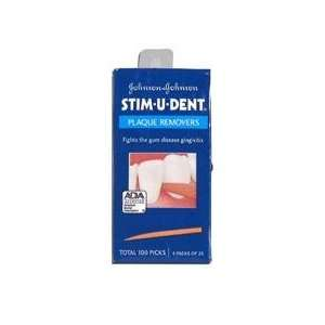 Johnson & Johnson Stim U Dent Plaque Removers Original 100