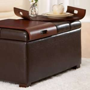 Livingston Storage Ottoman with Tray Tables: Home