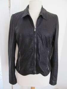 Dolce & Gabbana Black Leather Jacket/Coat Size 44