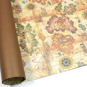 World Map Double Sided Gift Wrapping Paper 30.3 Large