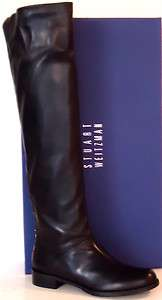 STUART WEITZMAN Backtalk WOMENS TALL FLAT BOOTS BLACK SIZE 8.5 M