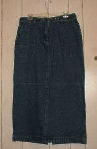 Christopher & Banks miss 12 long blue denim skirt NWT