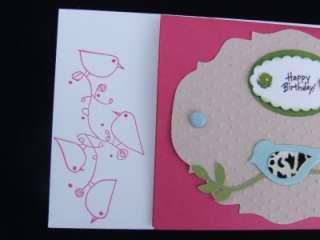LOT 2 Handmade ~HAPPY BIRTHDAY~ Cards ~ Stampin Up Bird Sizzix