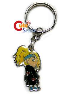 Naruto Deidara Metal Figure Key Chain Japan Manga NEW