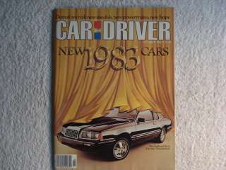 Car and Driver October 1982 Ford Thunderbird,Mitsubishi Starion LS